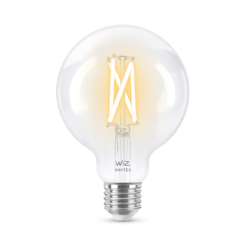 WiZ Connected LED globe E27 60W filament helder koel tot warmwit licht dimbaar