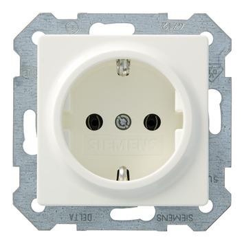 Siemens Delta i-system stopcontact enkel randaarde wit