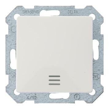 Siemens Delta i-system wisselschakelaar met blauwe ledlamp wit