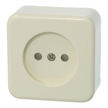 Plieger Basic opbouw stopcontact enkel crème