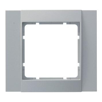 Berker B.1-B.3-B.7 Afdekraam 1-Voudig Aluminium