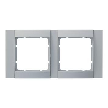 Berker B.1-B.3-B.7 Afdekraam 2-Voudig Aluminium