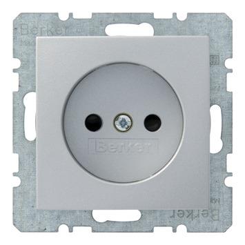 Berker B.1-B.3-B.7 Enkel Stopcontact  Aluminium