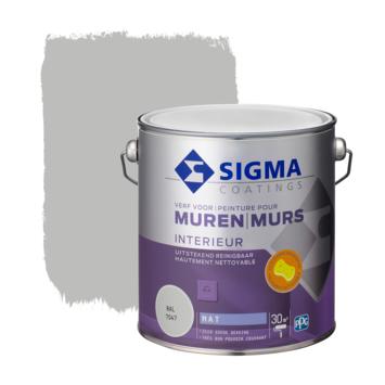 Sigma muurverf reinigbaar mat RAL 7047 2,5 liter