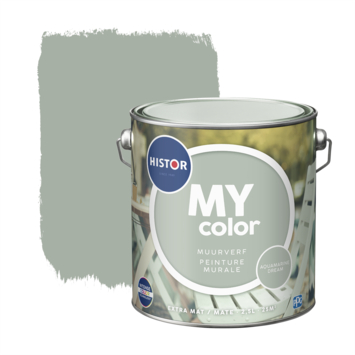 Histor My Color muurverf extra mat aqua dream 2,5 liter