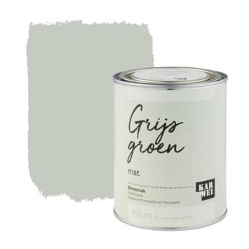 Karwei binnenlak mat 750 ml grijs groen