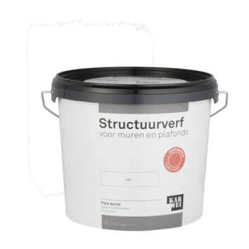 KARWEI structuurverf mat wit 5 liter
