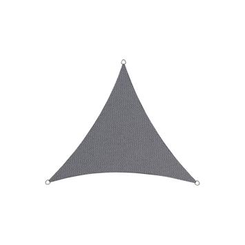 Schaduwdoek driehoek poly antraciet 3,6 meter