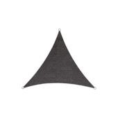 Schaduwdoek driehoek HDPE antraciet 5 meter
