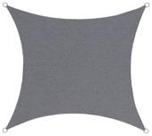 Schaduwdoek vierkant poly antraciet 3,6 meter