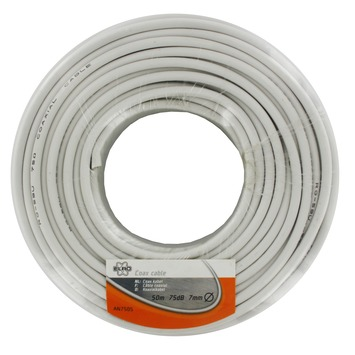 ELRO coax kabel afgeschermd AN750S wit 50 m