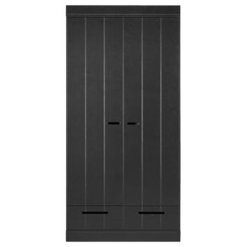 Kast Connect zwart 2 deurs met laden