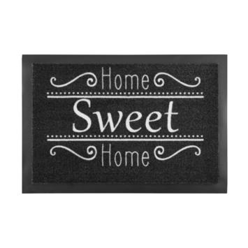 Schoonloopmat Home Sweet Home 39x58 Antraciet