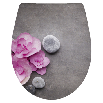 Cedo Orchid & Stones wc bril softclose duroplast