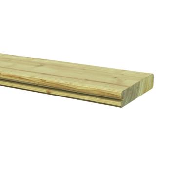 Afdekprofielplank grenen ca. 2,8x13,5 cm, lengte ca. 180 cm