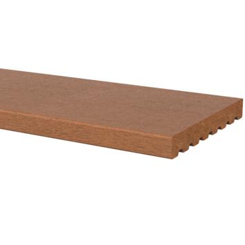 Vlonderplank Hardhout glad ca. 1,8x14,5 cm, lengte ca. 210 cm