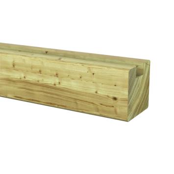 Sleufpaal eind geïmpregneerd ca. 8,8x8,8 cm, lengte ca. 270 cm