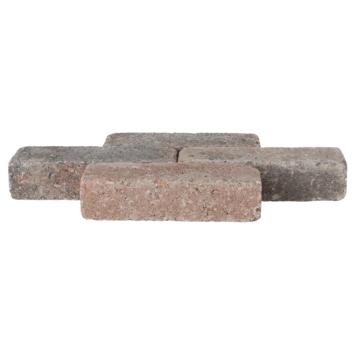 Trommelsteen Waalformaat Bruin/Zwart 20x5x7 cm