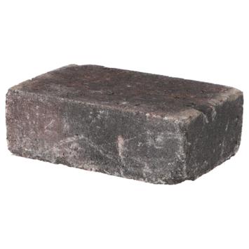 Trommelsteen Rood/Zwart 21x14x7 cm