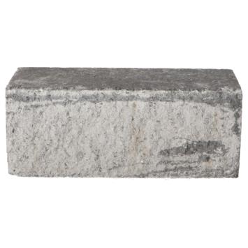 Stapelblok Beton Geknipt Grijs/Zwart 30x12x12 cm