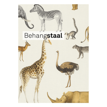 Behangstaal Claas vliesbehang afrikadieren wit (dessin 552683)