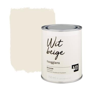 Karwei binnenlak hoogglans 750 ml wit beige
