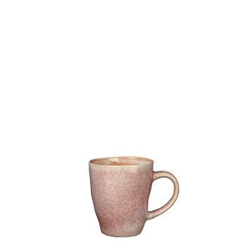 Tabo Senseo beker met oor roze - h8,5xd7,5cm