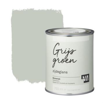 Karwei binnenlak zijdeglans 750 ml grijs groen