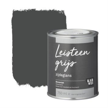 Karwei binnenlak zijdeglans 750 ml leisteen grijs