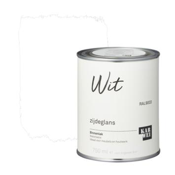 Karwei binnenlak zijdeglans 750 ml wit