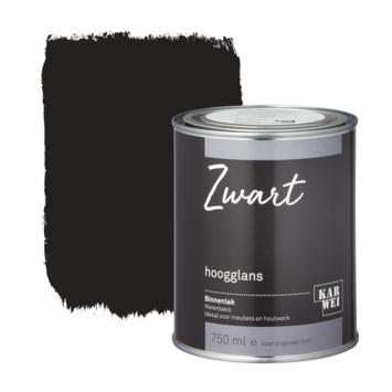 Karwei binnenlak hoogglans 750 ml zwart