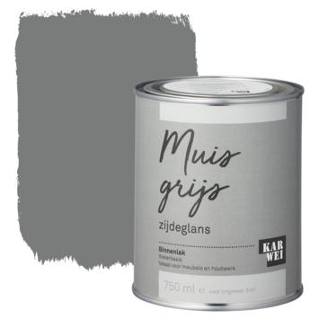Karwei binnenlak zijdeglans 750 ml muisgrijs