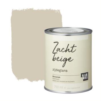 Karwei binnenlak zijdeglans 750 ml zacht beige