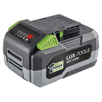 Lux 20V Accuplatform 4AH accu + lader