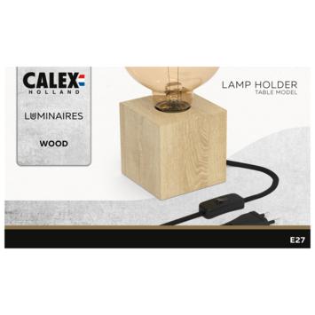 Calex tafellamp hout met schakelaar