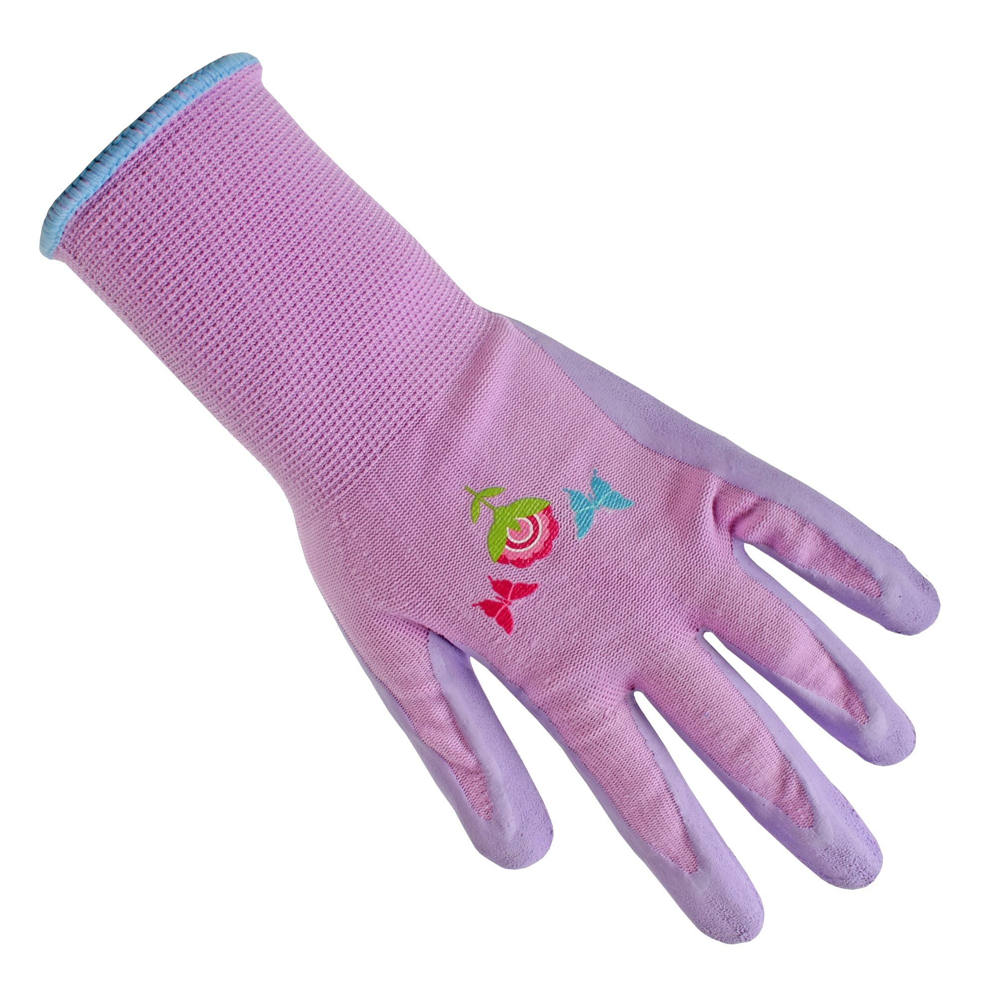 Tuinwerkhandschoen paars voor vrouwen Maat L