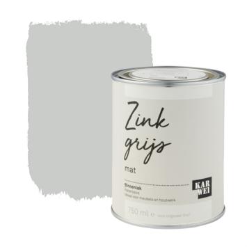 Karwei binnenlak mat 750 ml zink grijs
