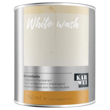 KARWEI binnenbeits white wash transparant 750 ml