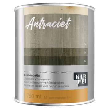 KARWEI binnenbeits antraciet transparant 750 ml