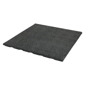 Terrastegel Rubber Zwart 40x40 cm
