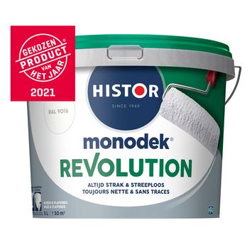 Histor Monodek Revolution RAL 9016 verkeerswit 5 liter