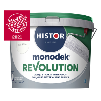Histor Monodek Revolution RAL 9016 verkeerswit 10 liter