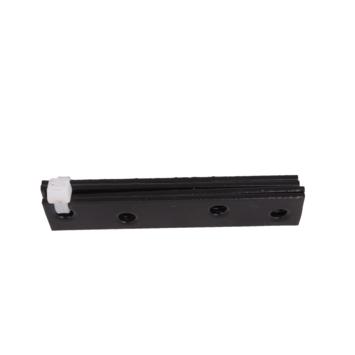 Verbindingsplaat Zwart 80x15 mm - 4 stuks