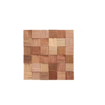 Teak wandbekleding Cubes natural (ca. 0,52 m²)