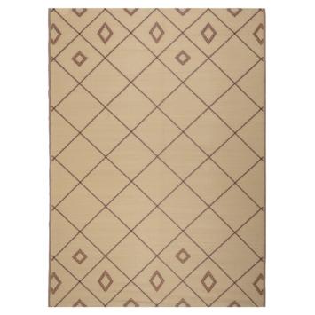 Buitenvloerkleed Kos beige /bruin 160x230 cm