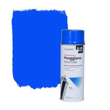 KARWEI spuitlak hoogglans helderblauw 400 ml