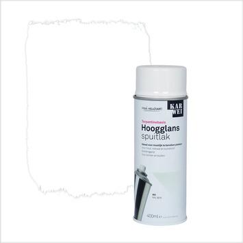 KARWEI spuitlak hoogglans wit (RAL 9016) 400 ml