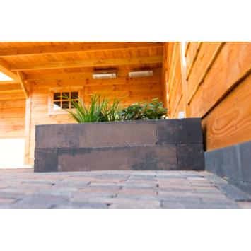 Stapelblok Beton Strak Bruin/Zwart 60x12x12 cm