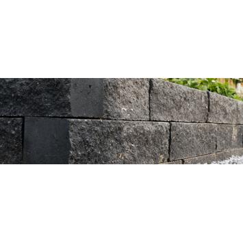 Stapelblok Beton Getrommeld Grijs/Zwart 60x12x12 cm