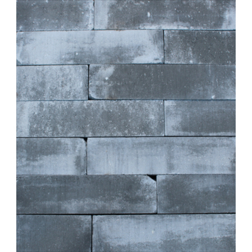 Stapelblok Beton Getrommeld Grijs/Zwart 30x15x15 cm